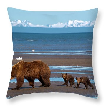 Clamming Trip Throw Pillow by Aaron Whittemore
