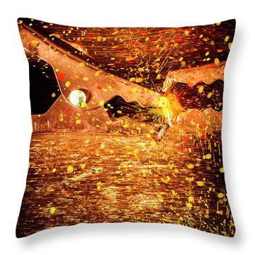 Clamp And Surge Throw Pillow