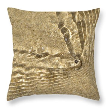 Clams And Ripples Throw Pillow