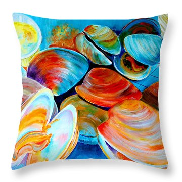 Clams At The Jersey Shore Throw Pillow