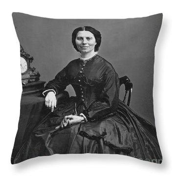 Clara Barton (1821-1912) Throw Pillow by Granger