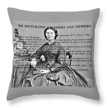 Clara Barton Throw Pillow