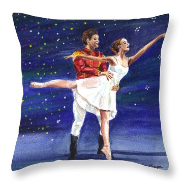 Clara's Nutcracker Throw Pillow
