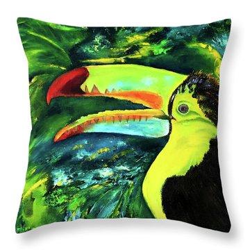 Clara's Toucan Throw Pillow