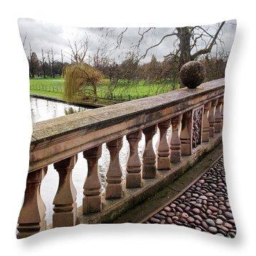 Throw Pillow featuring the photograph Clare College Bridge Cambridge by Gill Billington