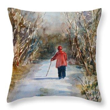 Clare's Lane Throw Pillow
