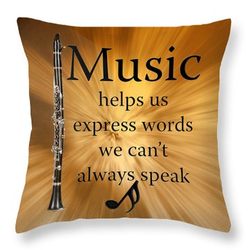 Clarinets Expresses Words Throw Pillow