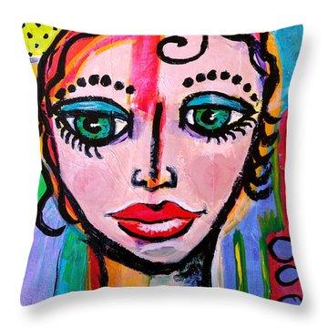 Clarissa - Vivid Vixen 3 Throw Pillow