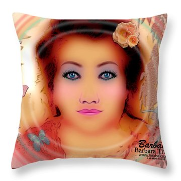 Throw Pillow featuring the photograph Clarity Harmony Tranquility by Barbara Tristan