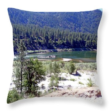 Clark Fork River Missoula Montana Throw Pillow
