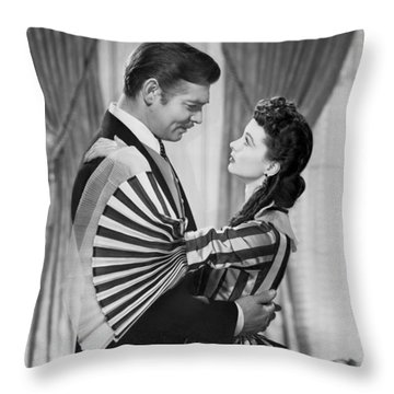 Clark Gable And Vivien Leigh Throw Pillow