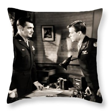 Clark Gable Appearing In Command Decision Throw Pillow