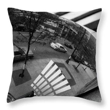Clark Street Throw Pillow by David Gilbert