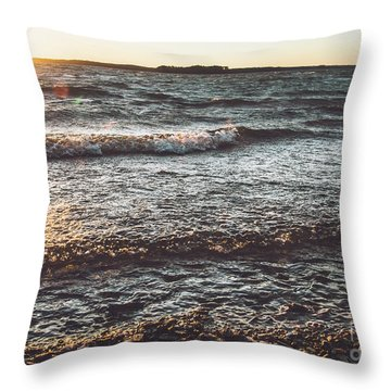 Throw Pillow featuring the photograph Clarks Hill Lake by Andrea Anderegg