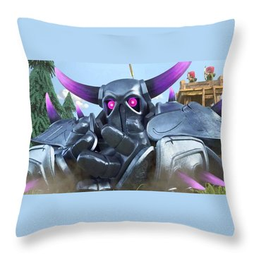 Clash Of Clans Hack Throw Pillow by Coc Hack