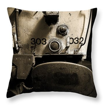 Throw Pillow featuring the photograph Class 303 Blue Train by Ray Devlin