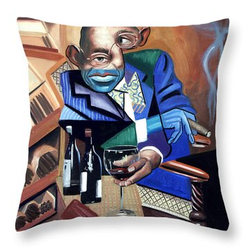 Throw Pillow featuring the painting Class Act by Anthony Falbo