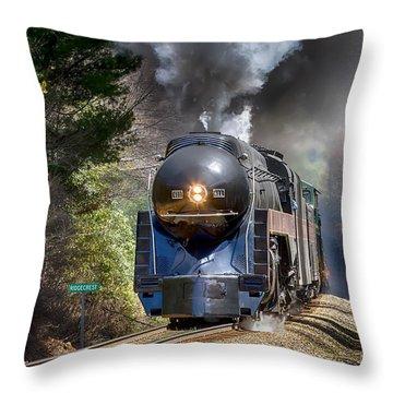 Class J 611 Steam Engine At Ridgecrest Throw Pillow