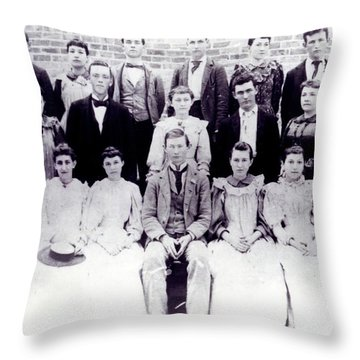 Class Of 1894 Bw Throw Pillow