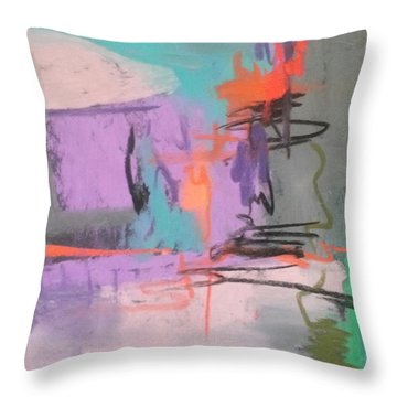 Class Play Throw Pillow by Becky Chappell