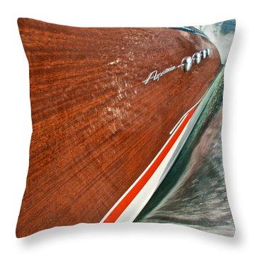 Classic Aquarama Throw Pillow