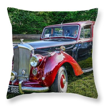 Classic Bentley In Red Throw Pillow
