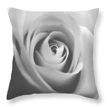 Classic Bw Rose Throw Pillow