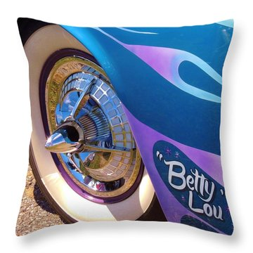 Classic Car Betty Lou Throw Pillow