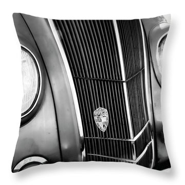 Classic Car Grill 1935 Desoto - Photography Throw Pillow by Ann Powell