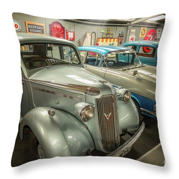 Throw Pillow featuring the photograph Classic Car Memorabilia by Adrian Evans