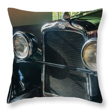 Throw Pillow featuring the photograph Classic Car Museum, Asheville, Nc by Richard Goldman