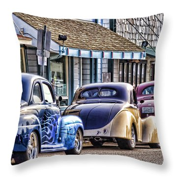 Classic Car Show Throw Pillow