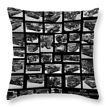 Throw Pillow featuring the photograph Classic Cars And Trucks by Angie Tirado