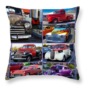 Throw Pillow featuring the photograph Classic Cars by Robert L Jackson