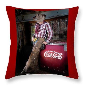 Classic Coca-cola Cowboy Throw Pillow