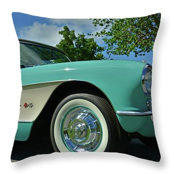 Classic Corvette Throw Pillow