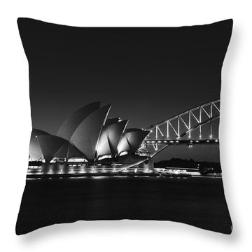 Classic Elegance In Bw Throw Pillow