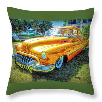 Classic Fifties Buick - Cruising The Coast Throw Pillow