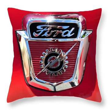 Classic Ford Logo Throw Pillow
