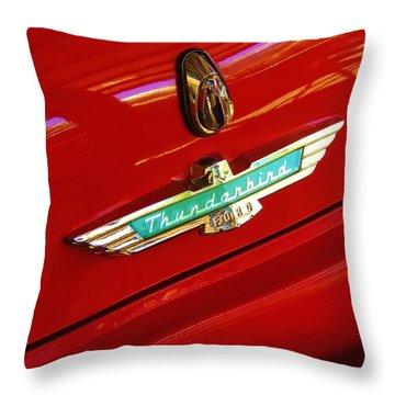Classic Ford Thunderbird Emblem Throw Pillow