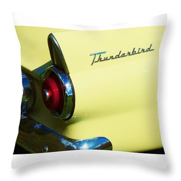 1955 Ford Thunderbird Throw Pillow
