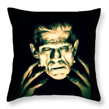 Classic Frankenstein Throw Pillow