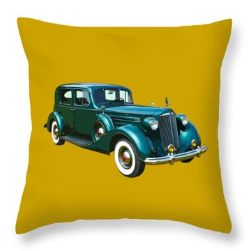 Classic Green Packard Luxury Automobile Throw Pillow by Keith Webber Jr