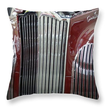 Throw Pillow featuring the photograph Classic Grille by Alan Johnson