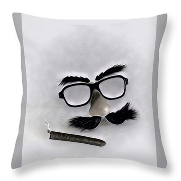 Classic Groucho Throw Pillow