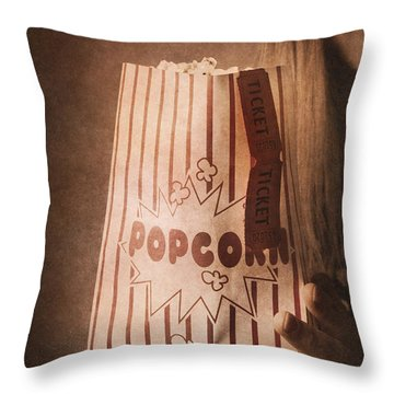 Throw Pillow featuring the photograph Classic Hollywood Flicks by Jorgo Photography - Wall Art Gallery