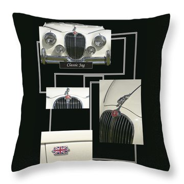 Classic Jag Throw Pillow by Hazy Apple