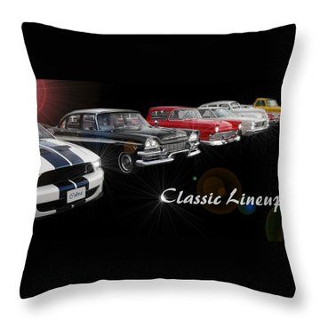 Classic Lineup Throw Pillow by David and Lynn Keller