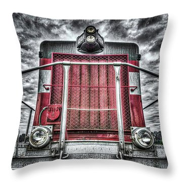 Classic Locomotive Throw Pillow by Spencer McDonald
