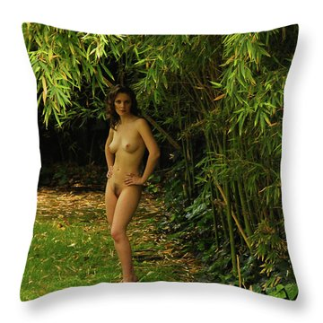 Classic Nude And Companion  Throw Pillow